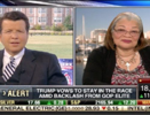 Fort Lauderdale Production Studio Fox Business Liveshot Alveda King Post Trump Clinton Debate