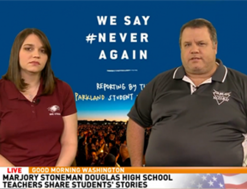 We Say Never Again Parkland Satellite Media Tour Fort Lauderdale